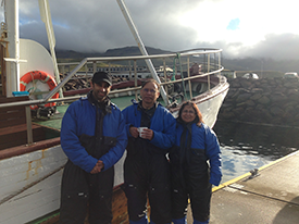 Dr. Bhanusali on a recent trip with family to Iceland